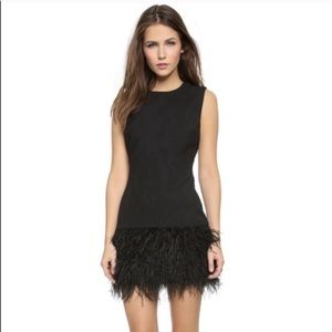 "Elizabeth & James ""India"" ostrich feather dress 4"